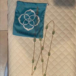 Kendra Scott Kellie Long Necklace/ Light Green